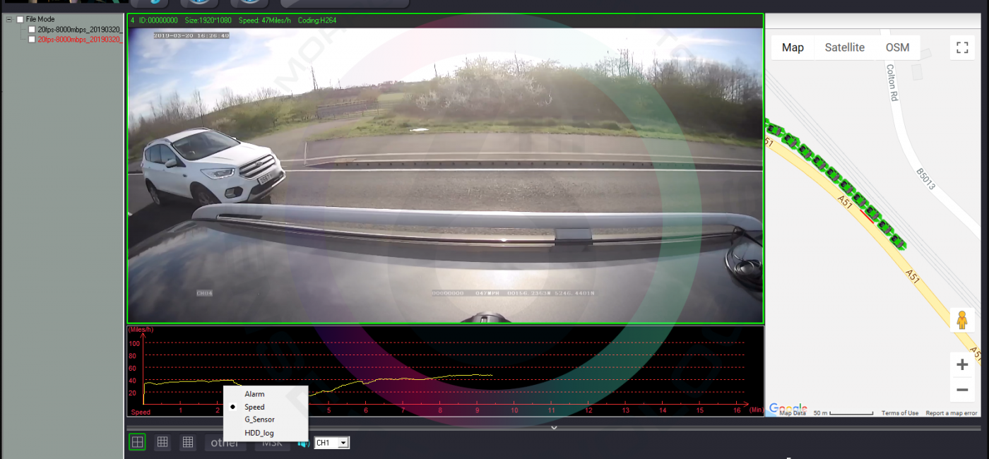 1080p CCTV and Telemetry for Vehicles